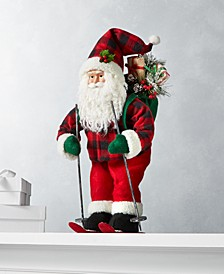 "Christmas Cheer 18""H Skiing Santa, Created for Macy's"