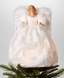 "14"" Angel LED Christmas Tree Topper in White Dress, Created for Macy's"