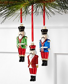 Christmas Cheer Shatterproof Nutcracker Ornaments, Set of 3, Created for Macy's