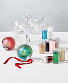 "Dreamland Set of 9 Shatterproof ""Create Your Own Ornaments"" with Colored Glitter, Created For Macy's"