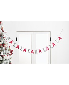 "Holiday Lane Christmas Cheer Red and White ""FALALA"" Garland, Created for Macy's"