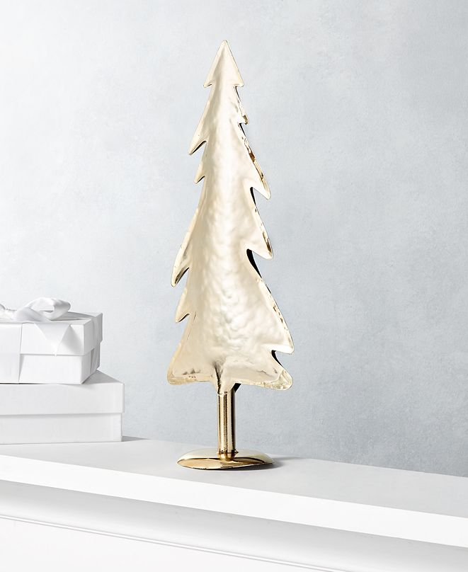 Holiday Lane Shine Bright Large Gold Metal Tree, Created for Macy's