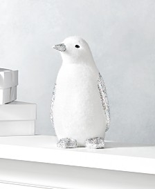 Holiday Lane Shine Bright Small Glitter Penguin, Created for Macy's