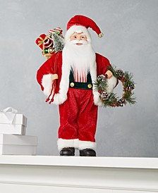 Jolly Santa with Pinecone Wreath, Created for Macy's