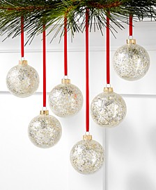 Shine Bright Set of 6 Shatterproof Gold Sequin Ornaments, Created for Macy's