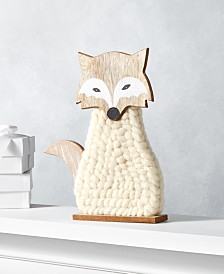 Holiday Lane Upstate Fox in Gray Sweater, Created for Macy's