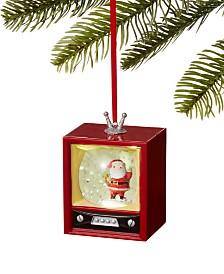 Holiday Lane Santa's Favorites TV Snow Globe Ornament, Created for Macy's