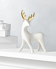 Shine Bright White Porcelain Reindeer, Created for Macy's