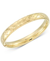 130d4e128e7667 Signature Gold Diamond Accent Patterned Bangle Bracelet in 14k Gold Over  Resin, Created for Macy's