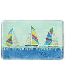 Rainbow Sailboats Memory Foam Rug Collection