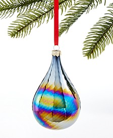 Midnight Blue Blue Iridescent Drop Ornament, Created for Macy's