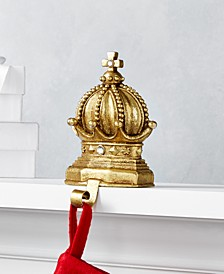 Midnight Blue Gold Crown Stocking Holder, Created for Macy's
