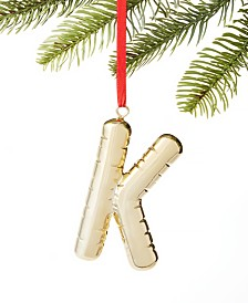 Holiday Lane Initials K Ornament, Created for Macy's