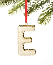 Holiday Lane Initials E Ornament, Created for Macy's