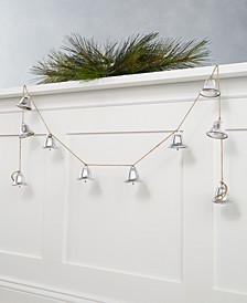 Martha Stewart Silver Woods Silver Bells Garland, Created for Macy's