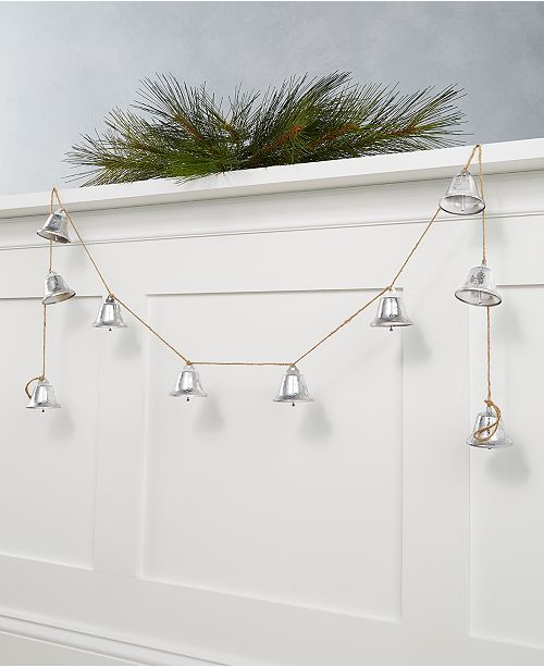 Martha Stewart Collection Martha Stewart Silver Woods Silver Bells Garland, Created for Macy's