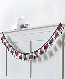"The Holiday Collection ""Peace, Love, Joy"" Plaid Garland, Created for Macy's"