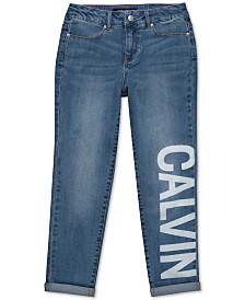 Calvin Klein Big Girls Logo-Print Jeans