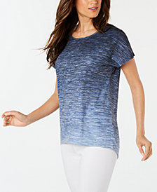 Ideology Ombré Keyhole-Back T-Shirt, Created for Macy's