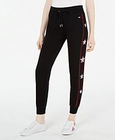 Star-Trim Cuffed Jogger Pants