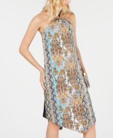 I.N.C. Ring-Neck Halter Dress, Created for Macy's
