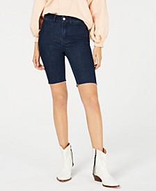 So-Chic Denim Biker Shorts
