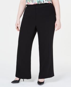 Bar III Plus Ruffle-Waist Pants