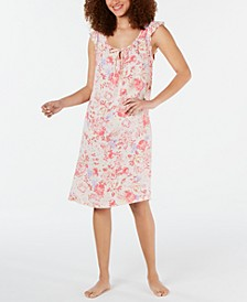 Flutter-Sleeve Printed Nightgown
