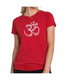 Women's Premium Word Art T-Shirt - Poses Om