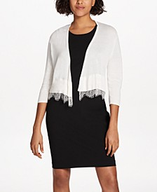 Lace-Trim Shrug Cardigan