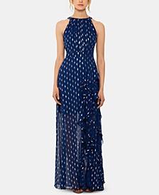 Chiffon Foil-Dot Gown