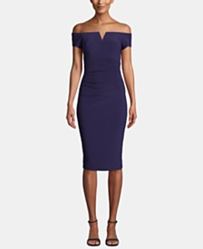 X by XSCAPE Off-The-Shoulder Dress