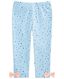 First Impressions Baby Girls Cotton Splatter-Print Leggings, Created for Macy's