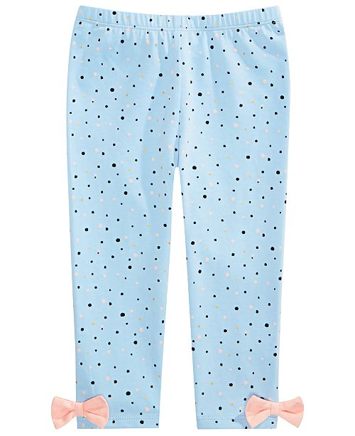 First Impressions Toddler Girls Cotton Splatter-Print Leggings, Created for Macy's