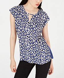 Juniors' Animal-Print Knit Top
