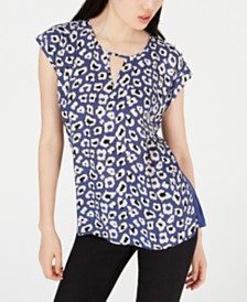 BCX Juniors' Animal-Print Knit Top
