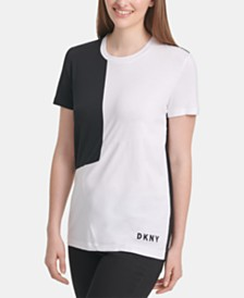 DKNY Crewneck Colorblock T-Shirt