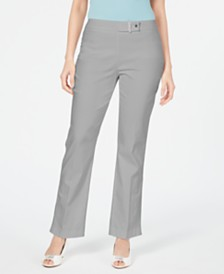 JM Collection Petite Curvy-Fit Tummy-Control Pants, Created for Macy's