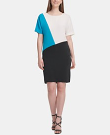 DKNY Colorblock Shift Dress