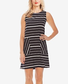 Vince Camuto Cotton Striped Dress