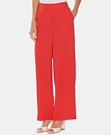 Wide-Leg Crêpe Pants