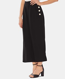 Vince Camuto Side-Button Cropped Pants