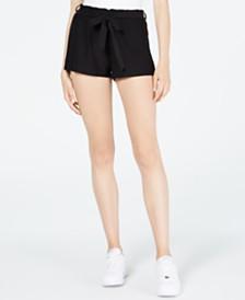 Ultra Flirt Juniors' Sash-Belt Soft Shorts