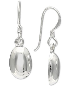 Giani Bernini Polished Oval Drop Earrings in Sterling Silver, Created for Macy's