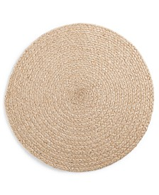 Lucky Brand Chevron Metallic Round Placemat, Created for Macy's