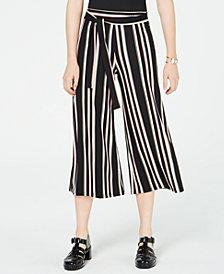 Ultra Flirt Juniors' Printed Tie-Waist Cropped Soft Pants