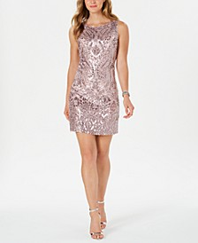 Sequined Shift Dress