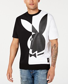 Sean John Men's Playboy Collection Regular-Fit Colorblocked Logo-Print Sweatshirt