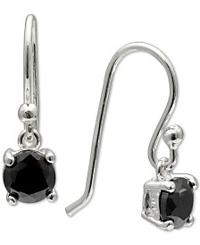 Giani Bernini Cubic Zirconia Solitaire Drop Earrings in Sterling Silver, Created for Macy's