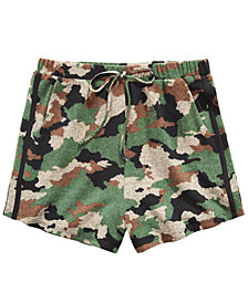 Monteau Big Girls Camo-Print Shorts